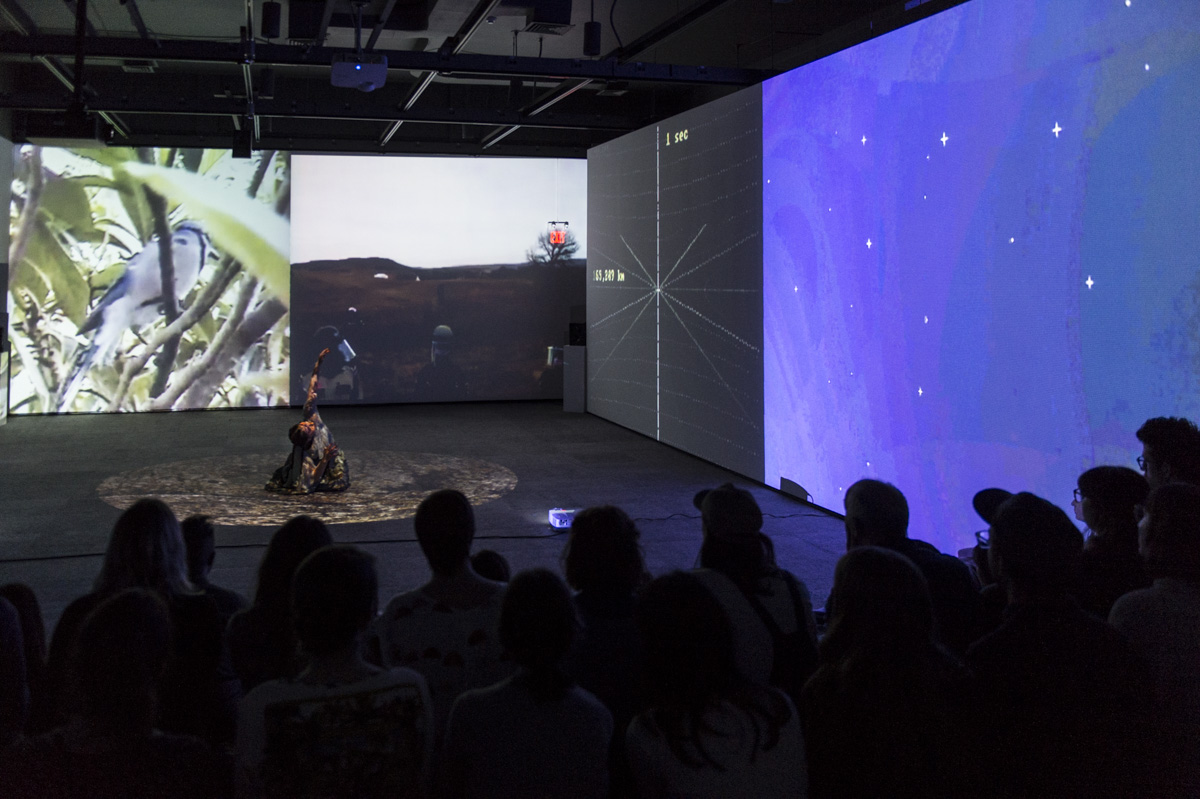 """A still from Kite's 2017 performance installation """"Everything I Say is True."""""""